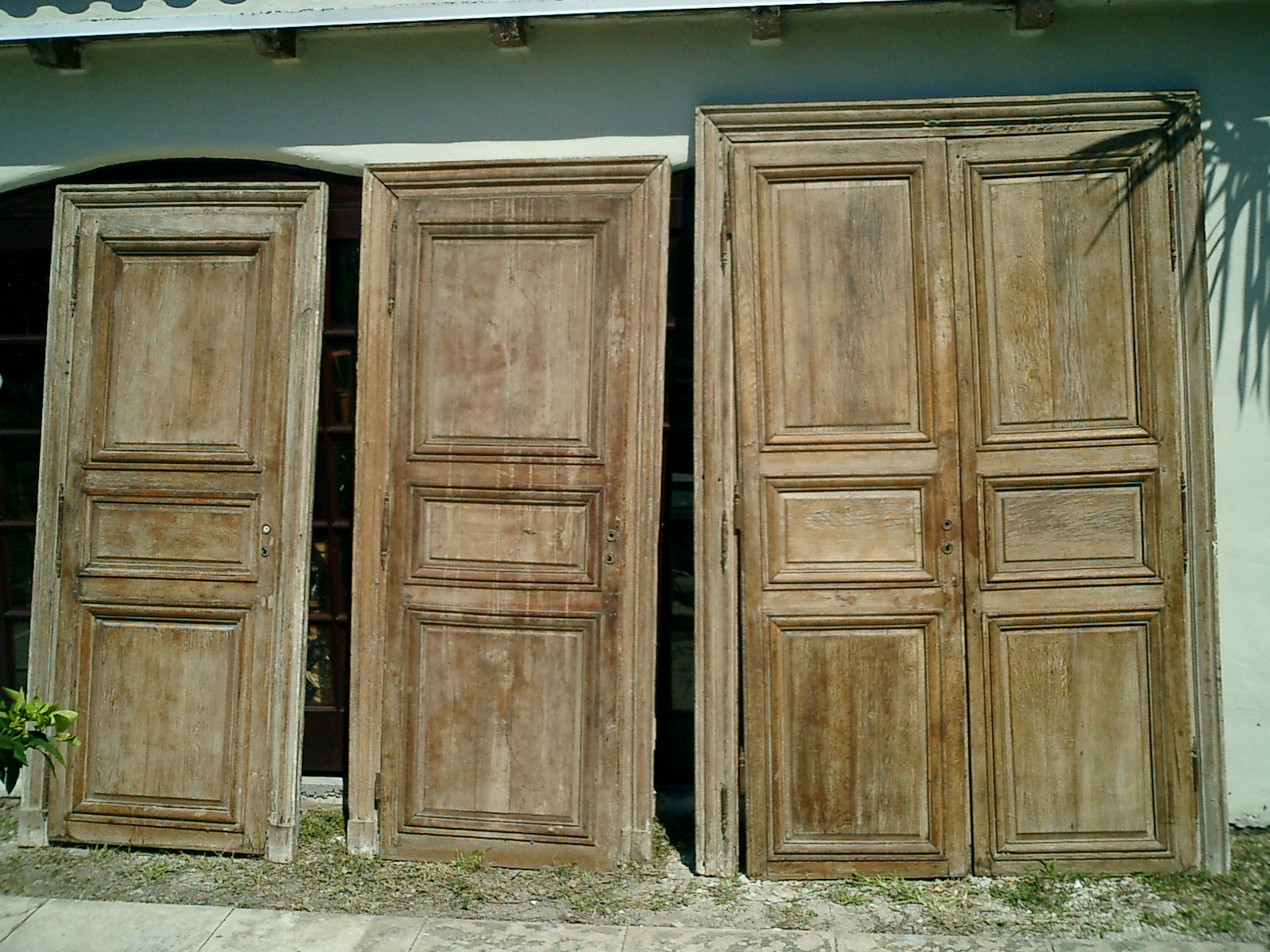 Architectural antiques reclaimed european antiques at l for Double doors for sale
